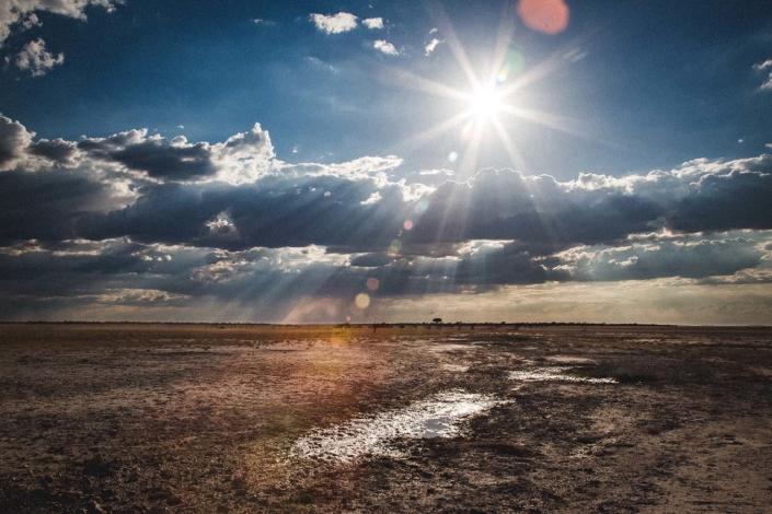 Sonnenstrahlen Namibia