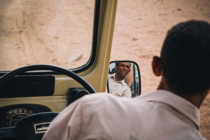 Reisefotografie Wüste Namibia Jeep