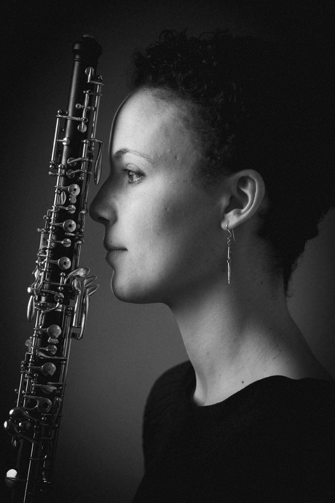 Musikerportrait sw Oboe Studio München