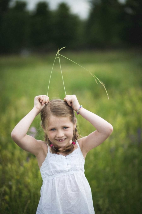 Kinderportrait draussen