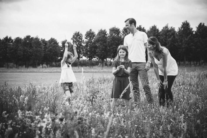 Familienfoto im Park