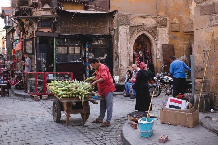 Reportagefoto Menschen in Kairo Händler