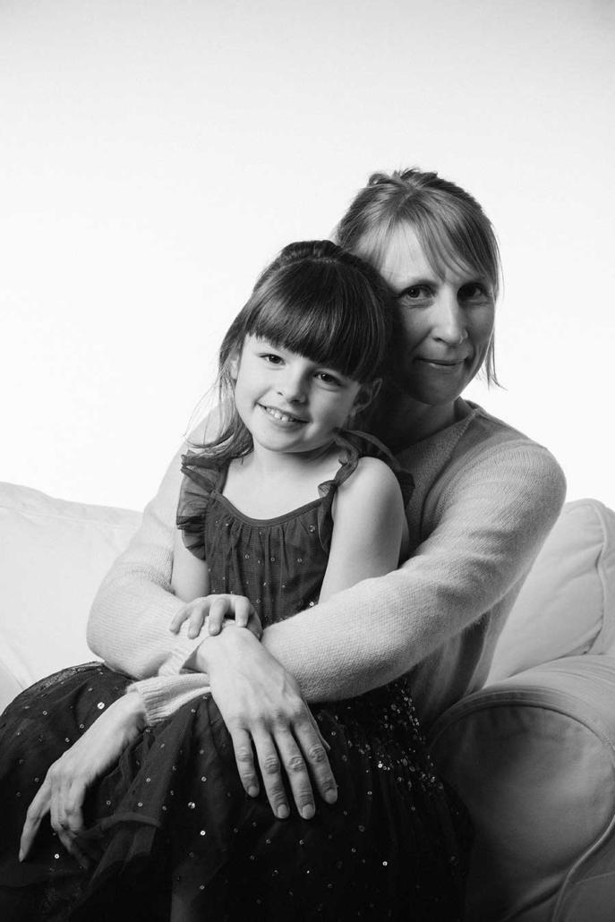 Kinderportrait Studio mit Mutter