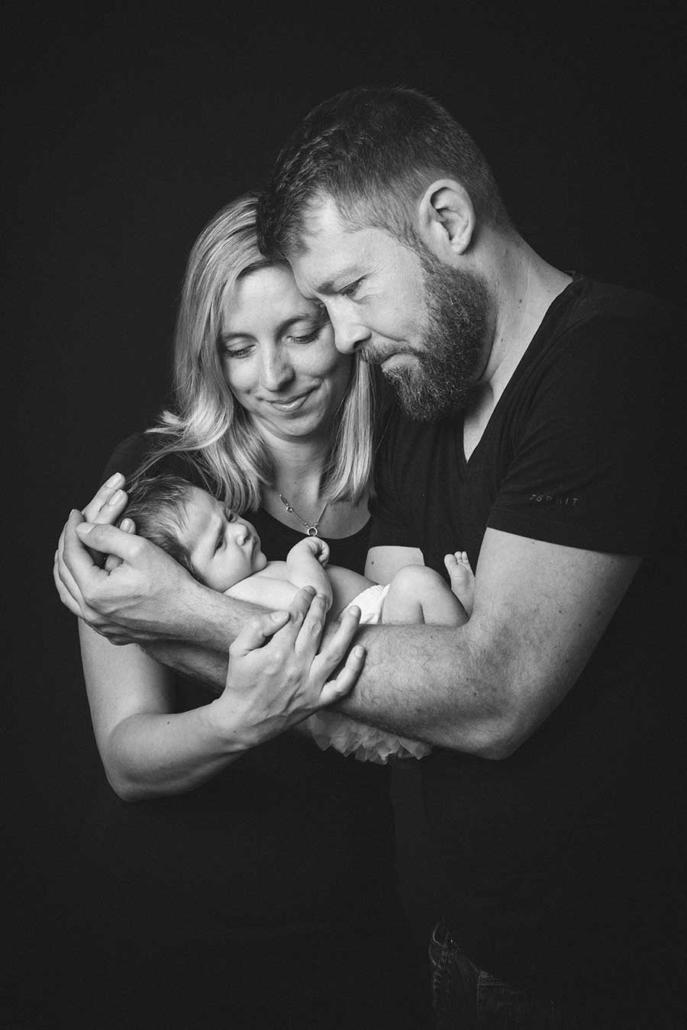 Neugeborenenfoto Studio Familie