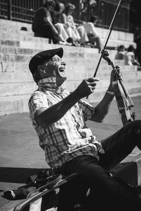 Reisefotografie Paris Musiker