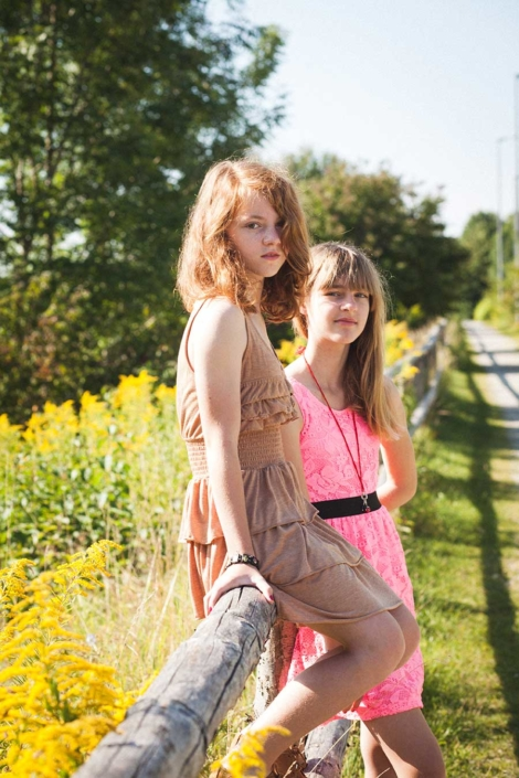 Portraitfoto Freundinnen draussen