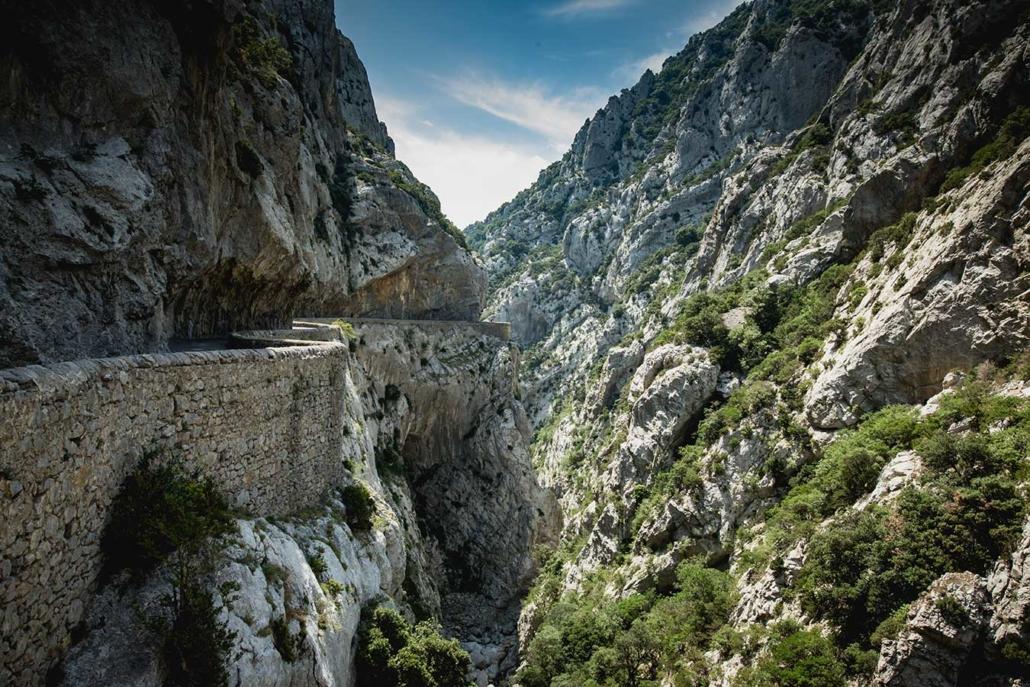 Reisefoto Pyrenäen Schlucht