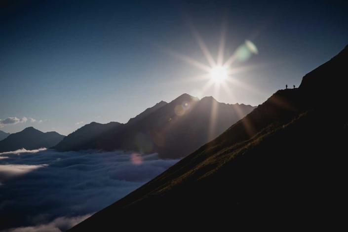 Reisefoto Pyrenäen Wolken