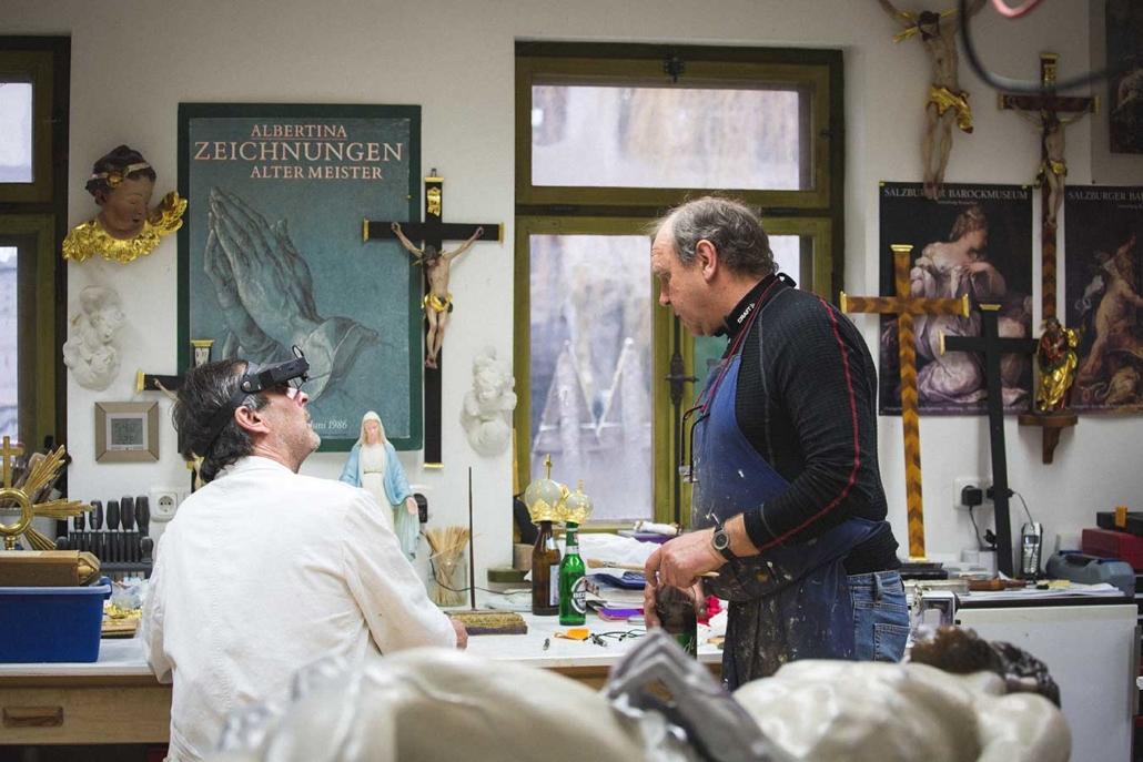 Reportagefoto Gerhard Diem Restaurator