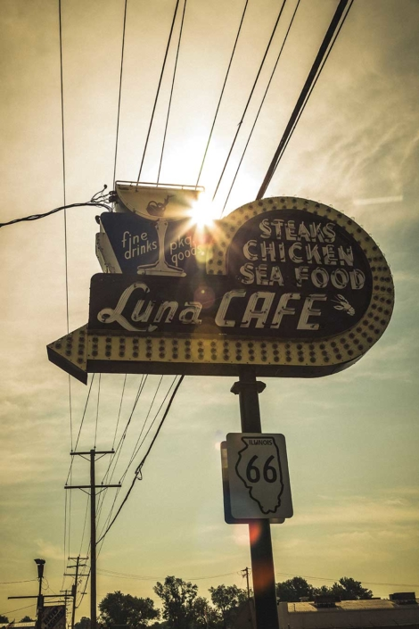 Roadtrip Route 66 Luna Cafe