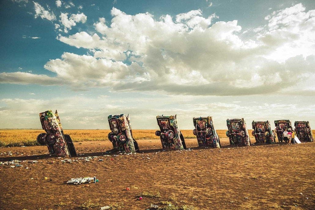 Roadtrip Route 66 cadillac ranch