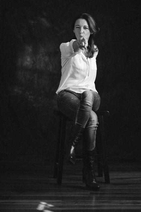 Schauspielerportrait Petra Wintersteller im Studio