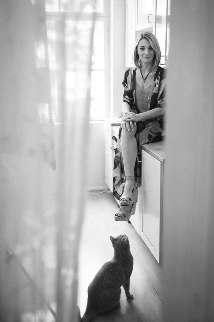 Schauspielerportrait Petra Wintersteller sw