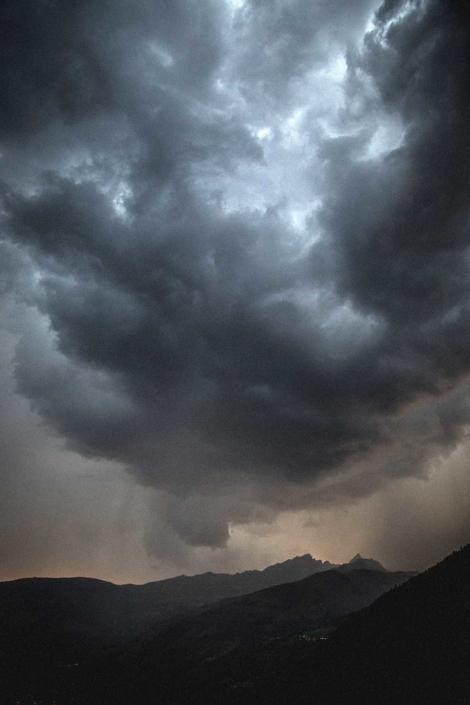 Reisefoto Alpen Gewitter