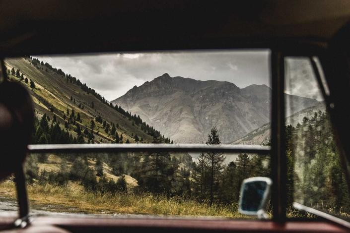 Reisefoto Alpen Oldtimer