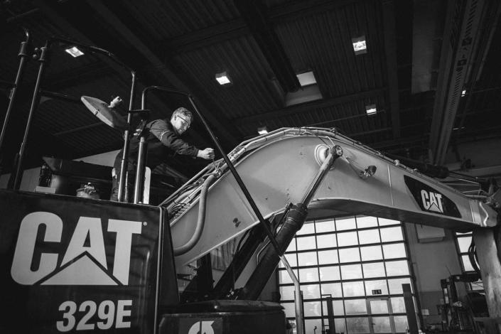 Reportagefoto Zeppelin Monteur