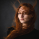 Portraitaufnahmen rothaariges Model