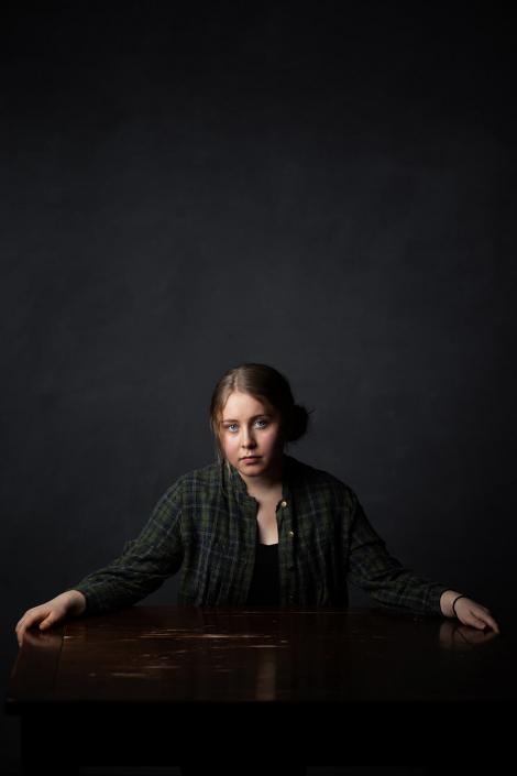 Portraetaufnahmen Schauspielerin Studio