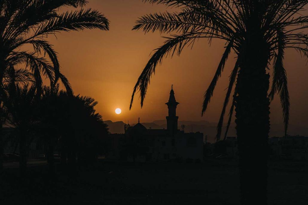 Moschee Sonnenuntergang