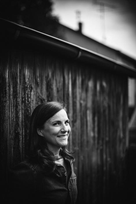 Portrait Frau outdoor sw
