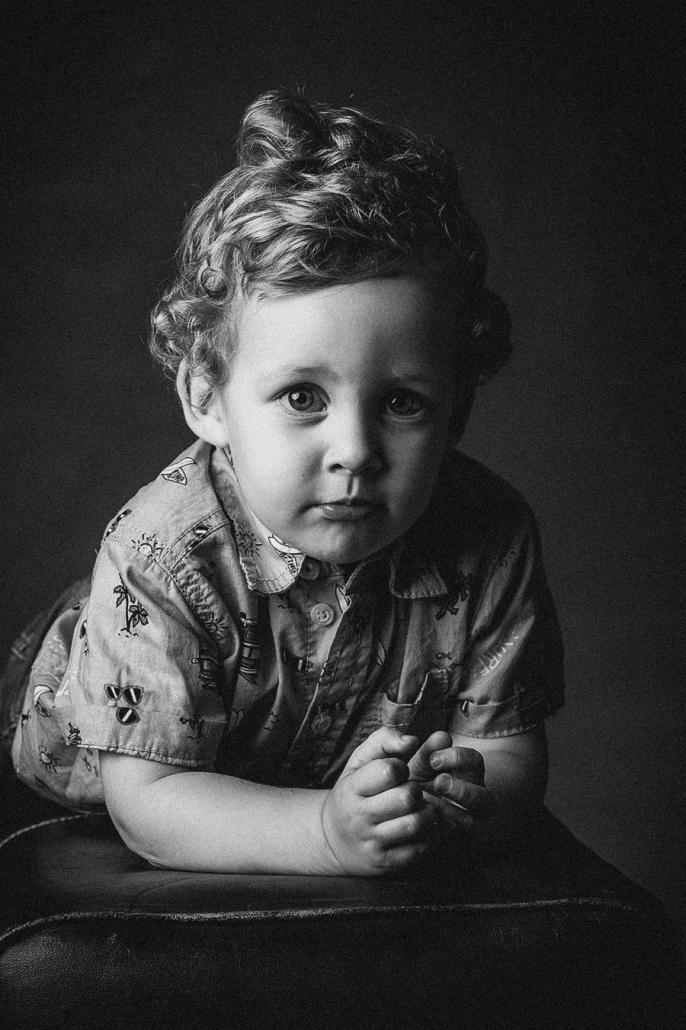 Junge sw Portrait