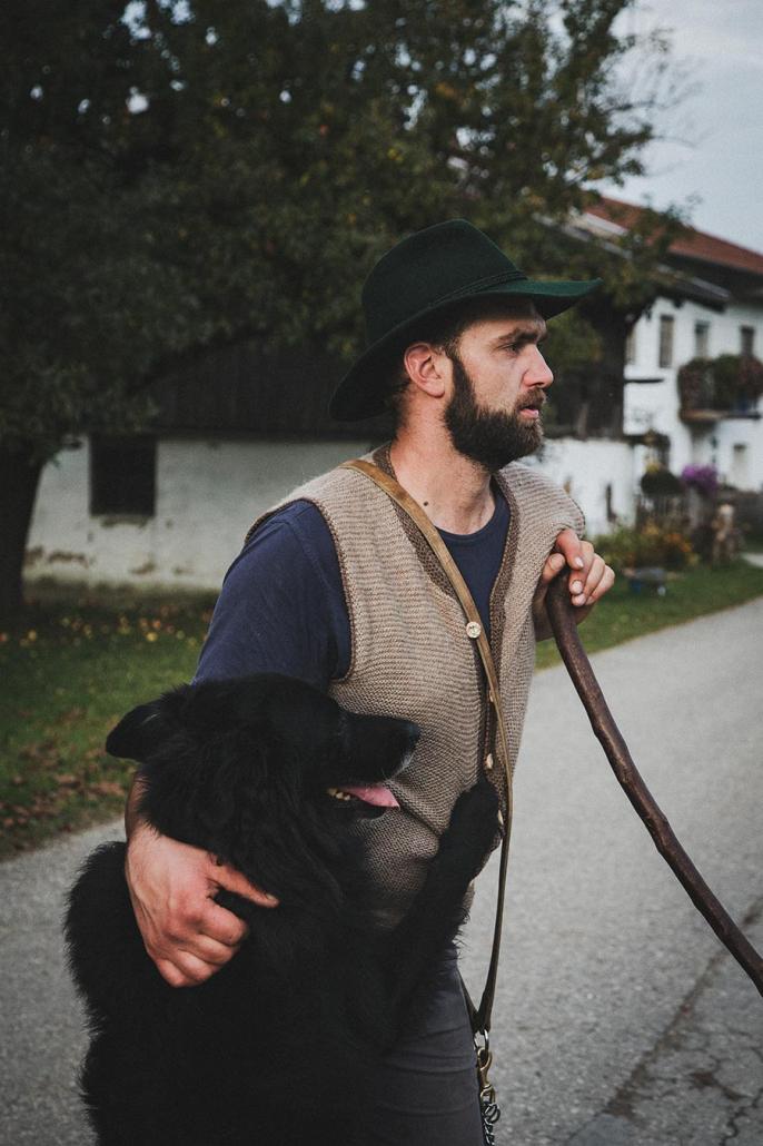 Schäfer mit Hund