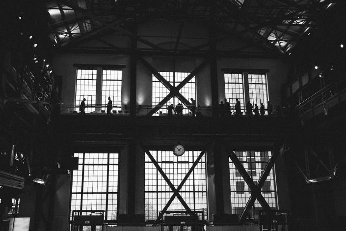 Silhouette alte fabrikhalle
