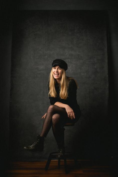 Portrait Schauspielerin im Studio