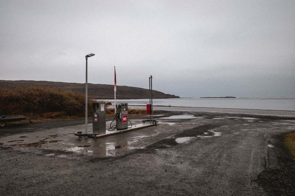 Tankstelle Island