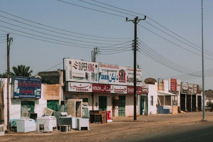 Ladenzeile Oman